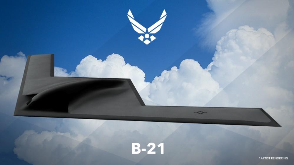 B-21レイダーの予想図(Image:USAF)