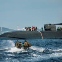 アメリカ原潜オハイオ 沖縄沖で海兵隊と尖閣諸島な…