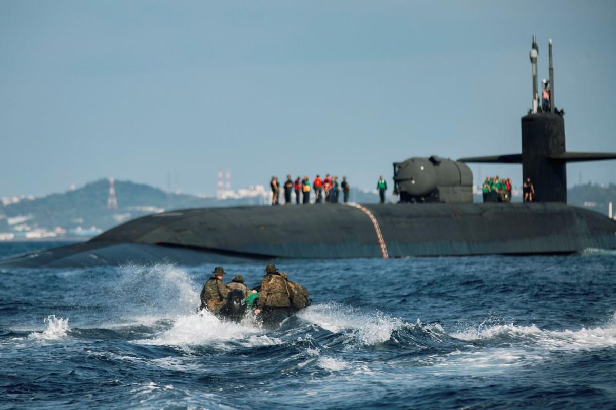 アメリカ原潜オハイオ 沖縄沖で海兵隊と尖閣諸島など島しょ戦想定の訓練実施
