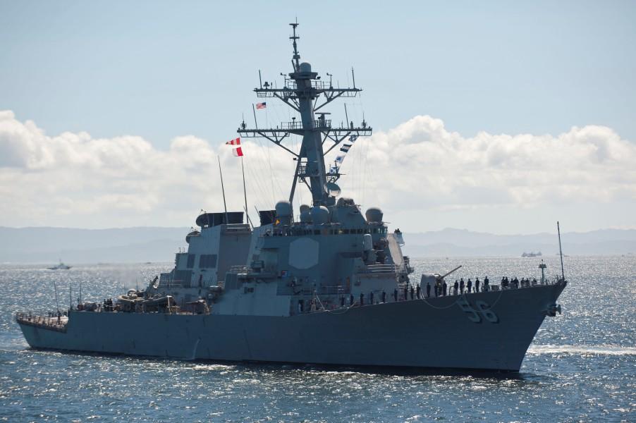 駆逐艦ジョン・S・マケイン(Image:U.S.Navy)