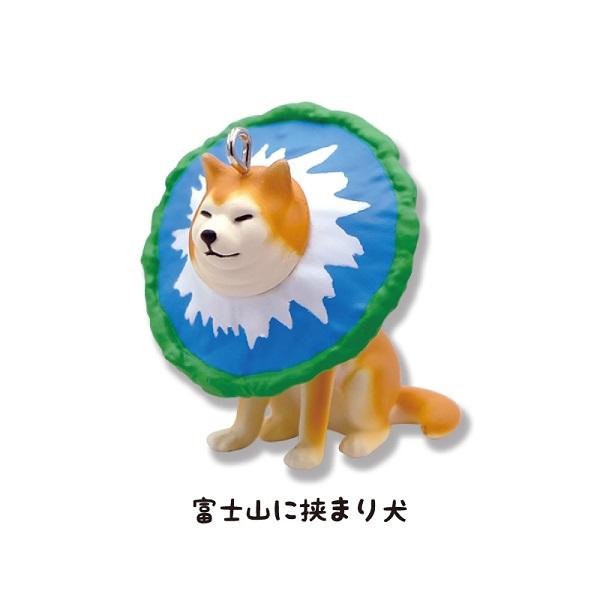 「富士山に挟まり犬」