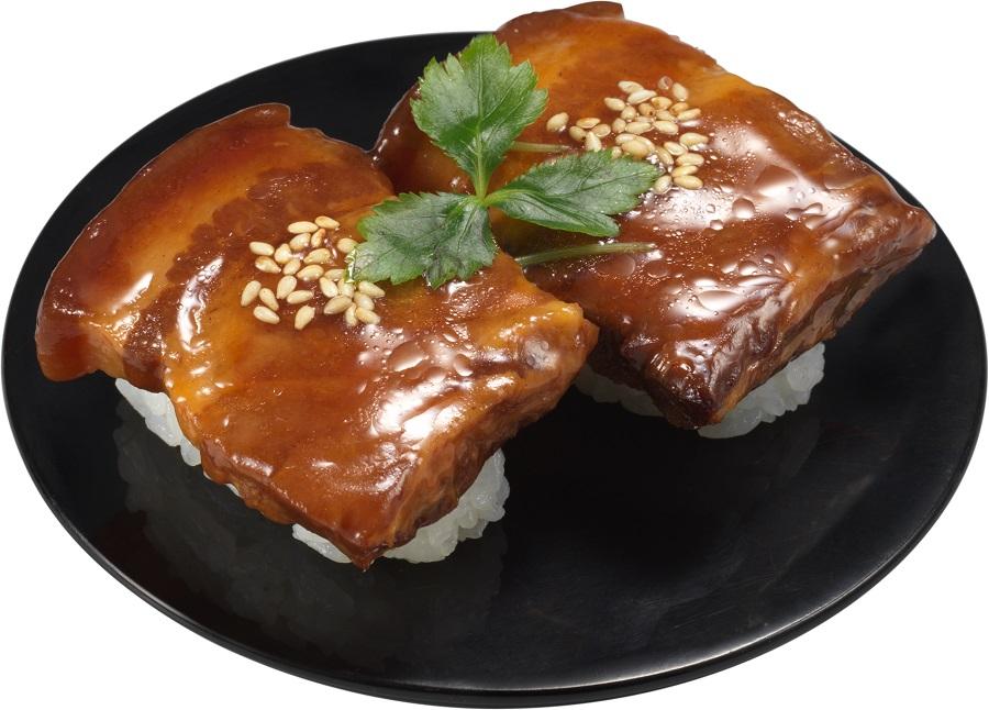 トロトロ食感で濃いめ味付けの角煮がシャリとの相性抜群「上海風豚の角煮にぎり」