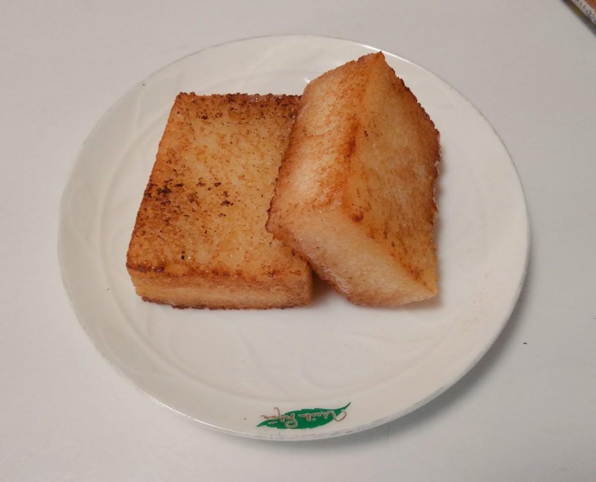 鹿児島銘菓「かるかん」をバターで揚げ焼きに カロリーは気にしない!