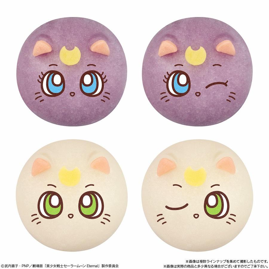 ぷにぷにのもち生地を使って再現された表情はそれぞれ2種類、組み合わせはランダムになっています。