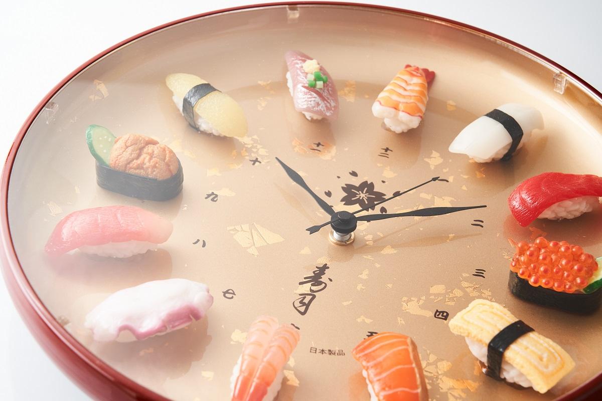 寿司の食品サンプルが時計に 北村サンプル「寿司時計プレミアム」がAmazonで販売開始