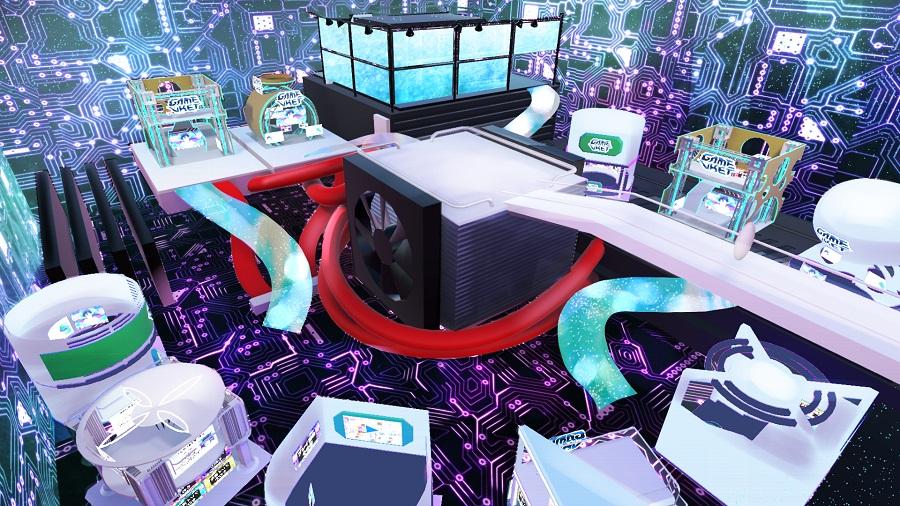 参加者は一般的なPCやスマートフォンのブラウザから会場にアクセスすることで、インディーズゲームが紹介されるバーチャルならではの華やかな会場を巡ることができます。