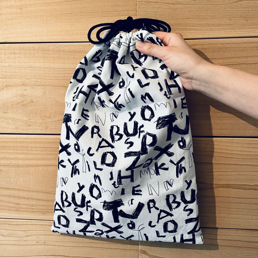 図書バッグを作った翌朝には体操服袋も作られました。