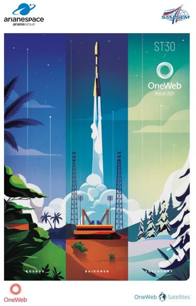 アリアンスペースのミッションポスター(Image:アリアンスペース)