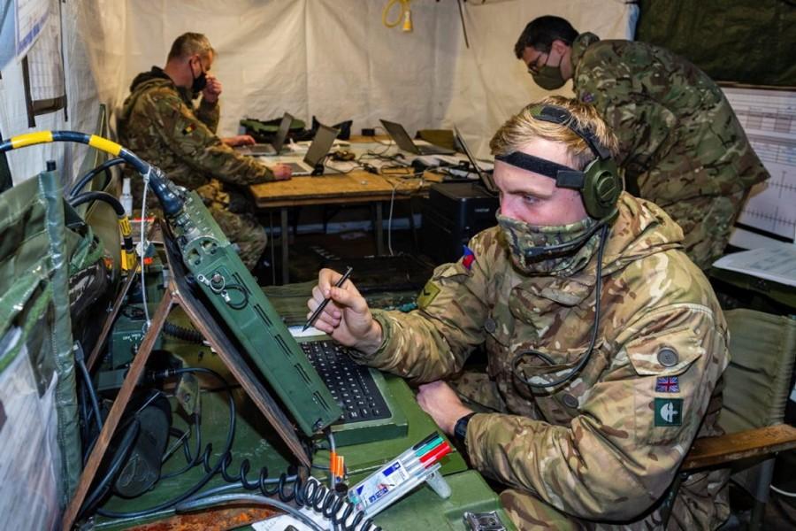 イギリス陸軍の戦術情報通信システム(Image:Crown Copyright)