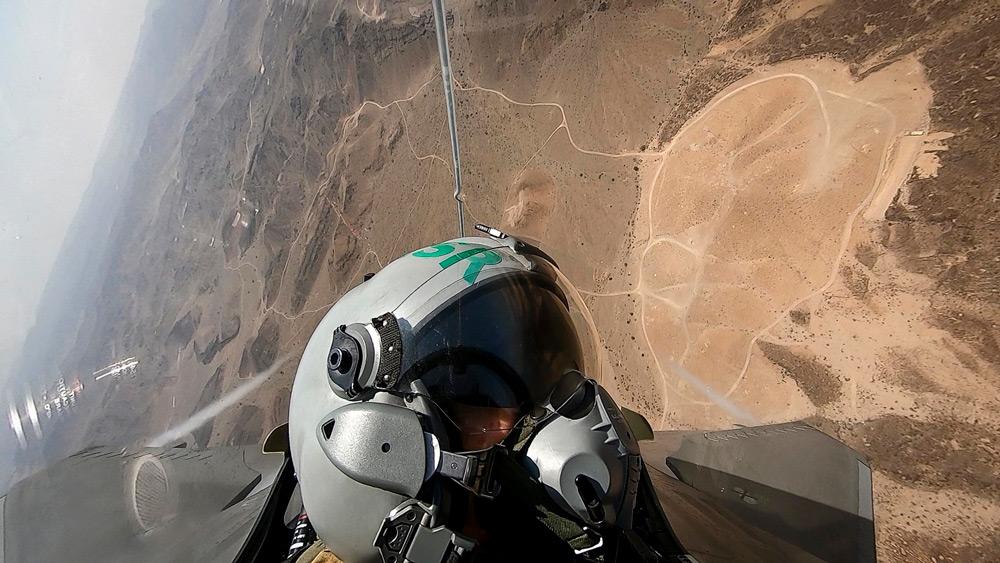 訓練空域上空のラファールM(Image:フランス海軍)
