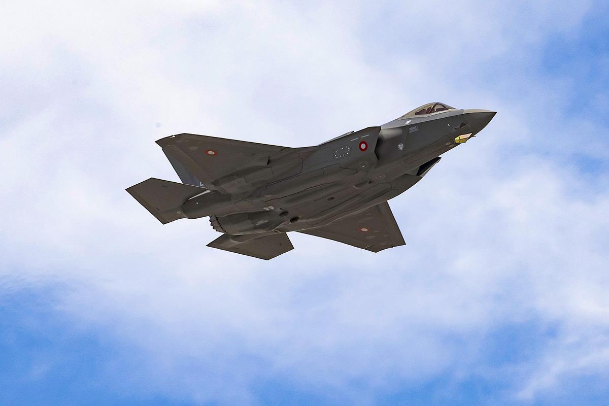 初飛行するデンマーク向けF-35A(Image:Lockheed Martin)