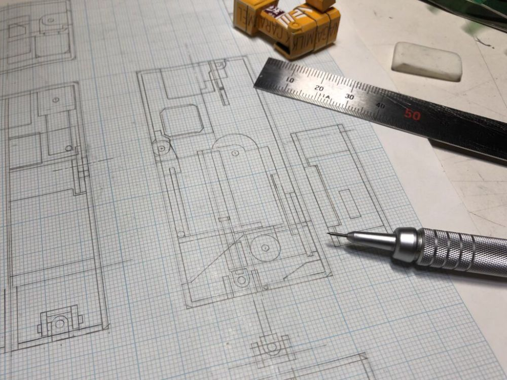 「森永ライタン」を設計図からパーツ作図にいたる部分から手書きで作成したどり☆あすかさん。
