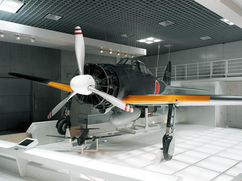 国立科学博物館上野本館で展示中の零戦二一型改
