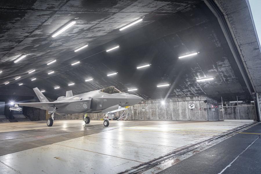 掩体内のF-35A(Image:ノルウェー空軍)