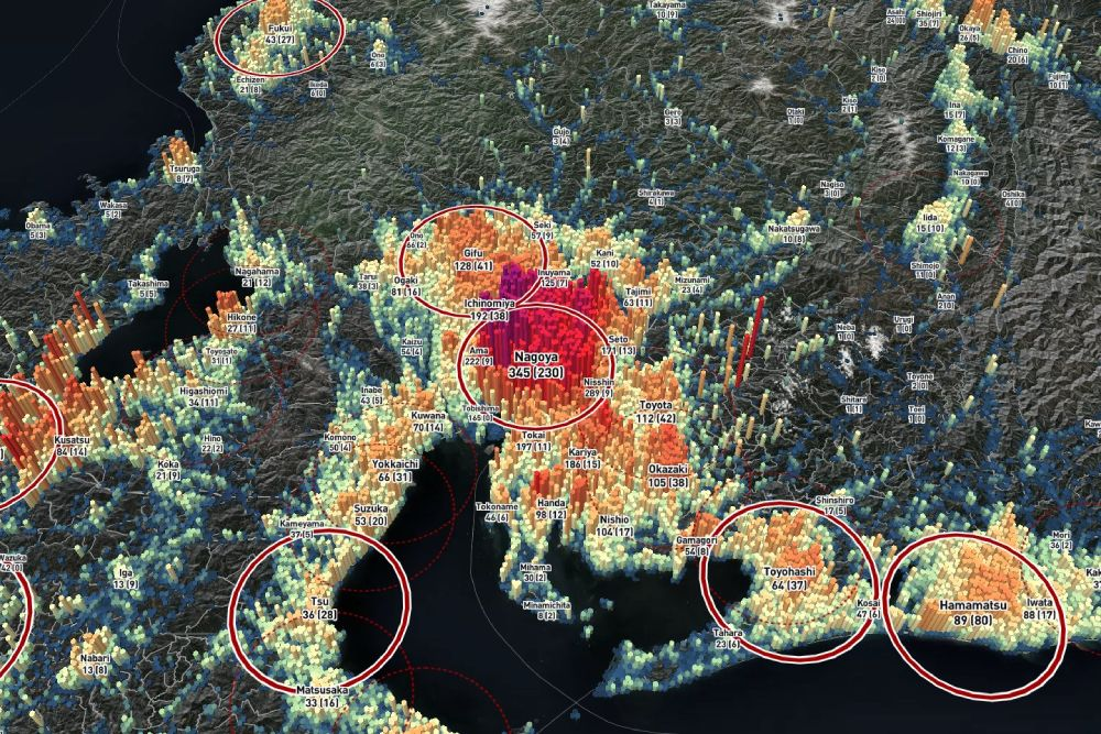 今回もっともオーソドックスな結果となった名古屋都市圏。