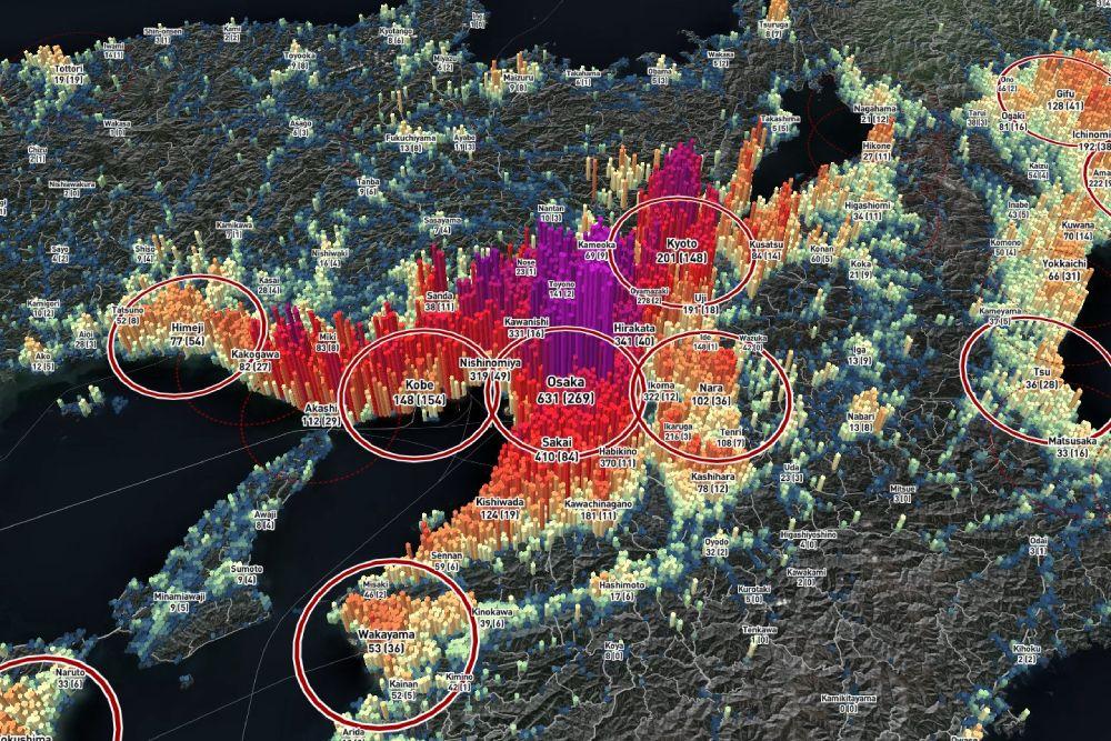 「京阪神」の関西都市圏。三者三様の特色が。