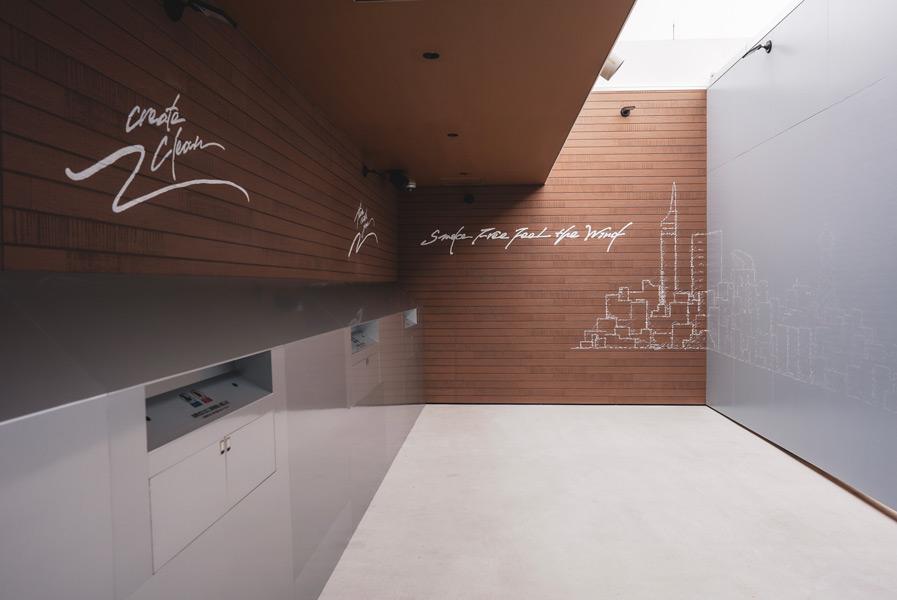 「CAITAC SQUARE GARDEN」4階の加熱式たばこ専用エリア
