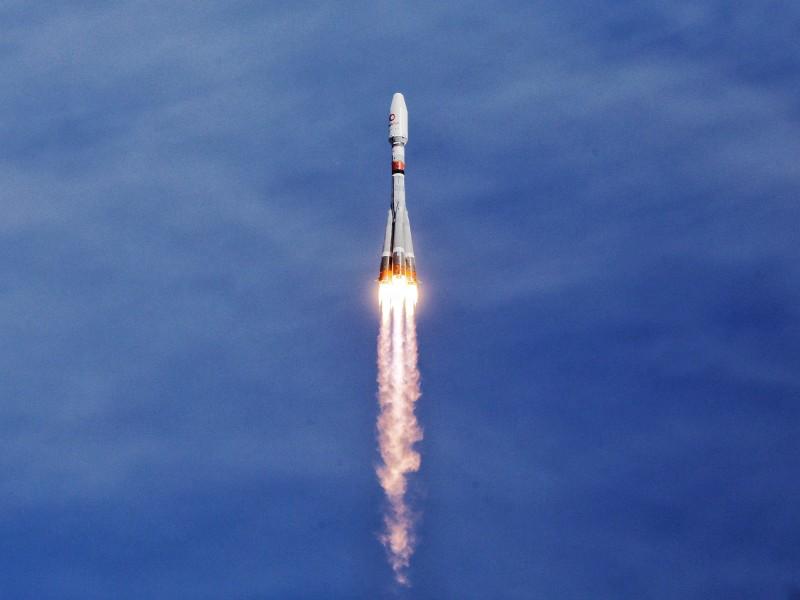 上昇するソユーズ2.1bロケット(Image:Roscosmos)