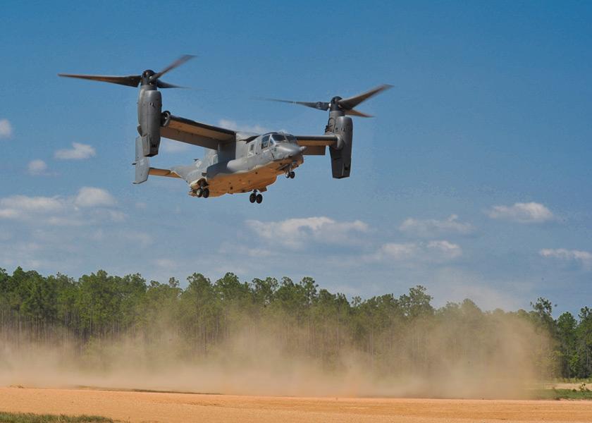 着陸するCV-22(Image:USAF)