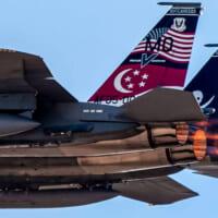 シンガポール空軍F-15 アメリカの「レッドフラッグ」演習に…