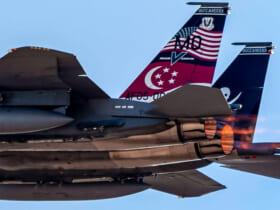 ネリス空軍基地での「レッドフラッグ21-2」に参加のシンガポール空軍F-15SG(Image:USAF)