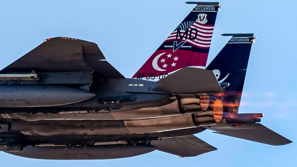 シンガポール空軍F-15 アメリカの「レッドフラッグ」演習に参加