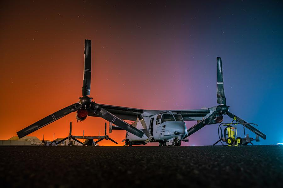 中東に派遣されたMV-22(Image:USMC)