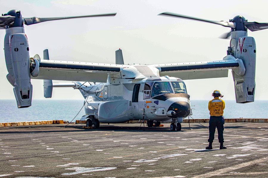 アメリカ海軍のCMV-22(Image:U.S.Navy)