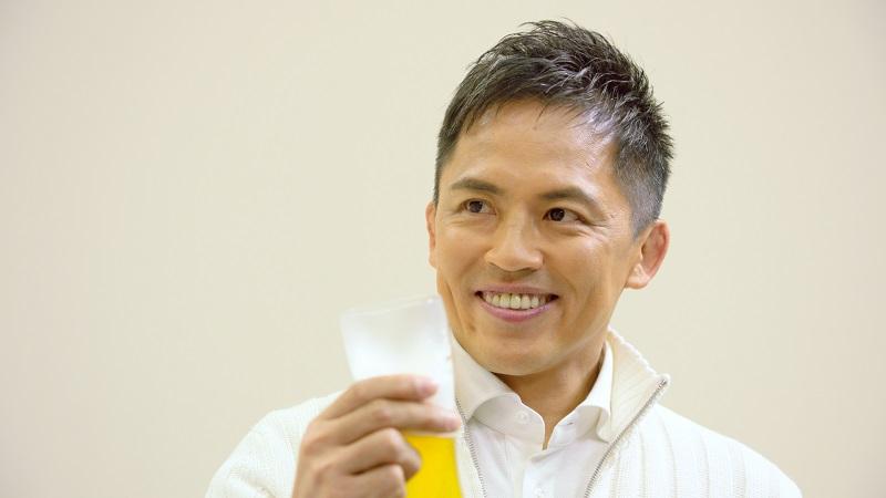 ビールが欠かせないと熱い口調で語る野村さん