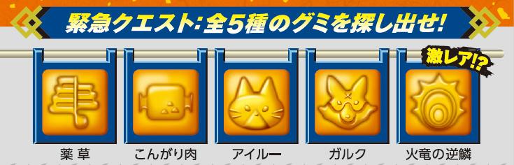 全5種類のレアグミ