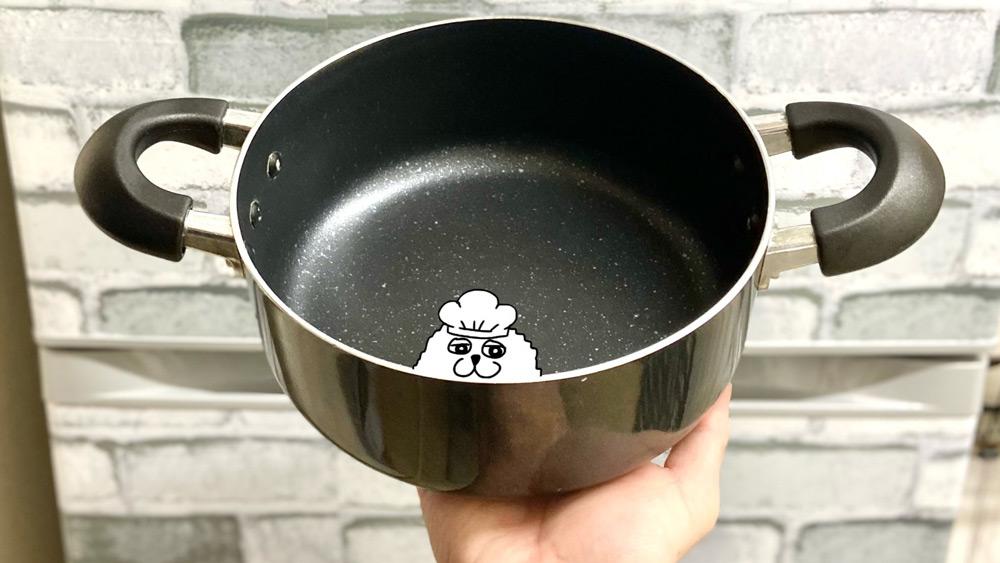スポンジもきれいなまま鍋もきれいに洗える(麦ライスさん提供)