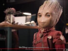 ディズニーが作ったグルートのロボット(スクリーンショット)