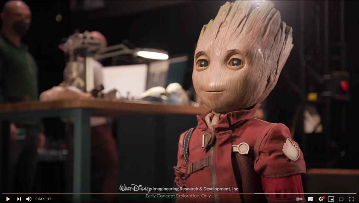 ディズニーが「ガーディアン・オブ・ザ・ギャラクシー」グルートのロボット開発 将来はロボ俳優実現?