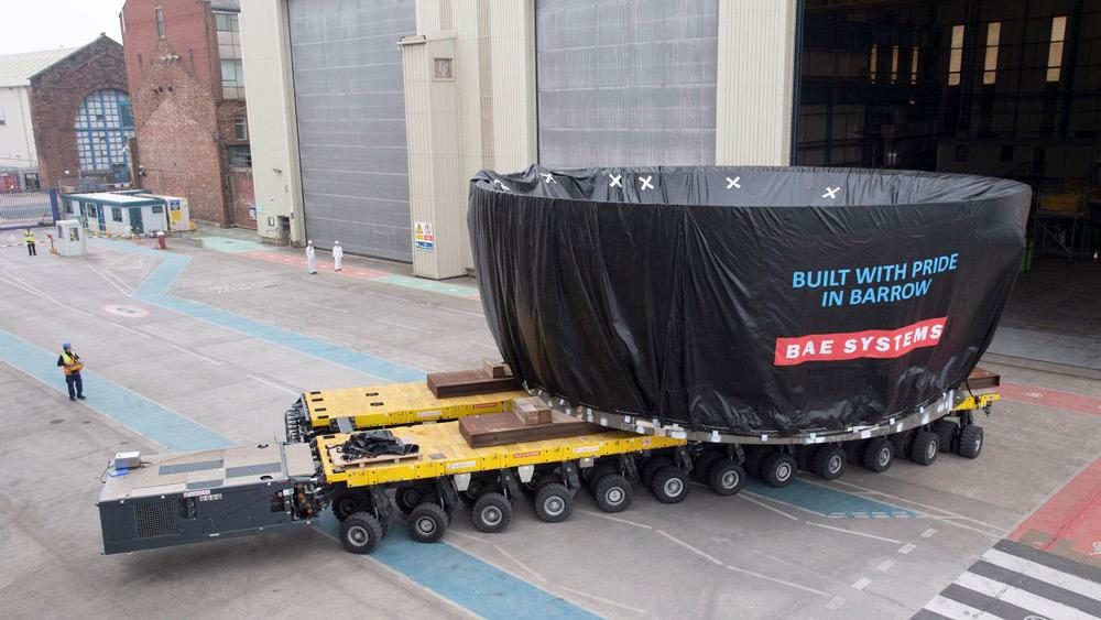 ドレッドノートの胴体セクション(Image:BAE Systems)