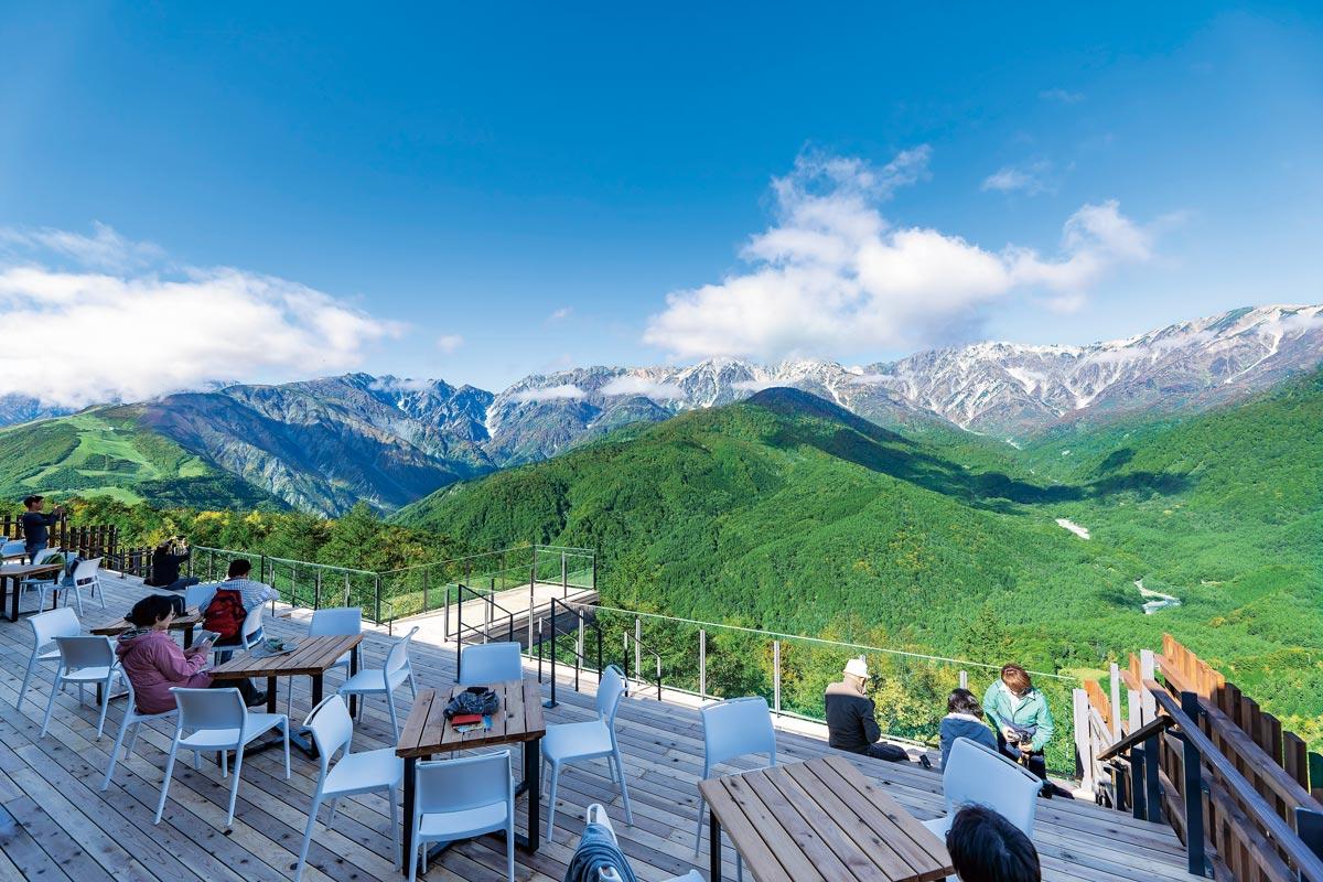 白馬岩岳リゾート標高1289mの山頂にある「HAKUBA MOUNTEN HARBOR」