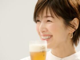 「キリン一番搾り 糖質ゼロ」sinn TVCMでの吉瀬美智子さん