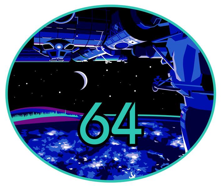 第64次長期滞在のミッションパッチ(Image:NASA)