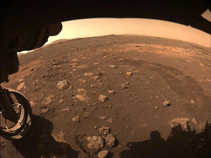 Perseveranceが撮影した火星の大地(Image:NASA/JPL-Caltech)