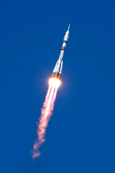 国際宇宙ステーションを目指し上昇するソユーズMS-18(Image:Roscosmos)