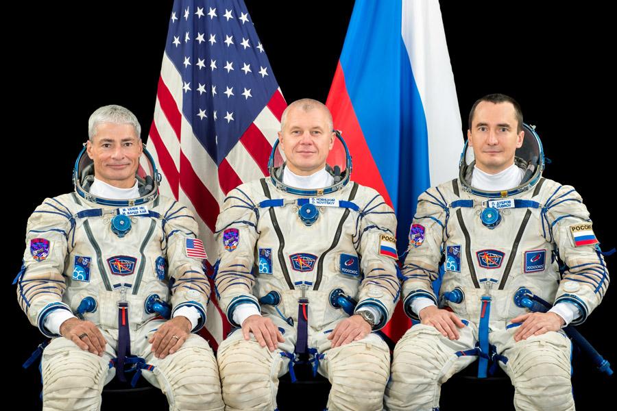 ソユーズMS-18プライムクルー(Image:Roscosmos)