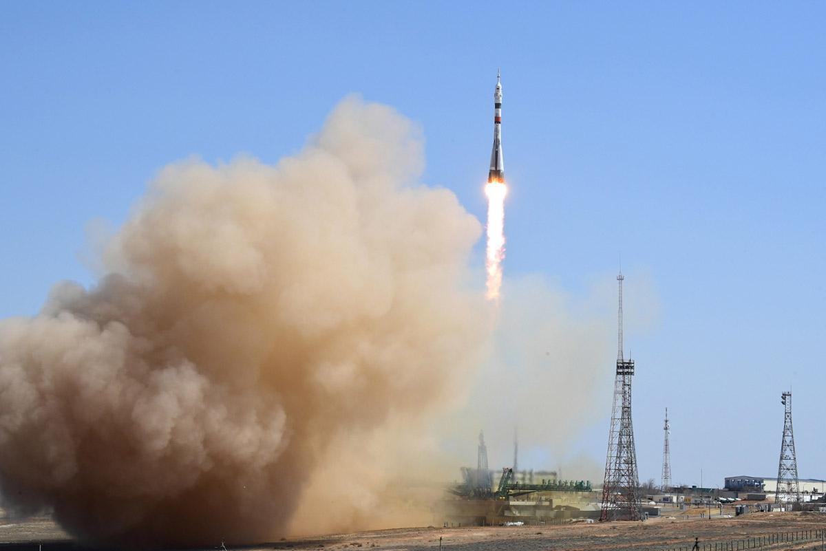 ソユーズMS-18の打ち上げ(Image:Roscosmos)