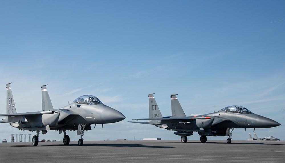 F-15Eと並ぶF-15EX(Image:USAF)