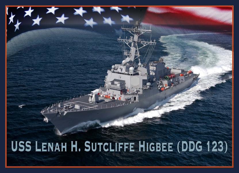 駆逐艦レナ・サトクリフ・ハイビーのイラスト(Image:U.S.Navy)