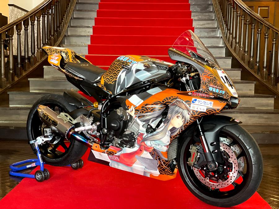 志摩の萌えキャラ「碧志摩メグ」の痛バイクが公開 モータースポーツに本格参戦