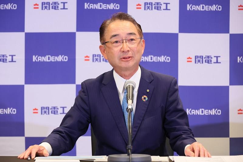 関電工取締役社長の仲摩俊男さん