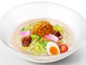 もちもち太麺と国産シャキシャキ野菜にコクうまスープが絡む冷やしちゃんぽん
