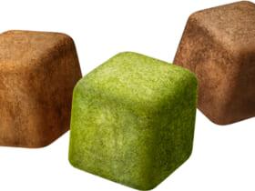 濃縮フリーズ製法により作られたキューブ