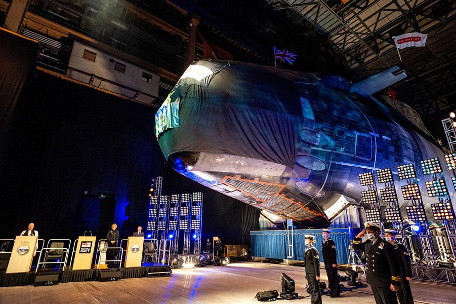 潜水艦アンソンの命名式(Image:BAE Systems)