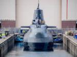ドックで進水する潜水艦アンソン(Image:BAE Systems)