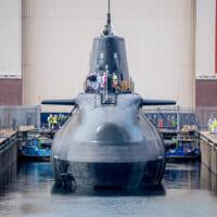イギリス最新原潜アンソン BAEシステムズの造船所で進水